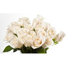 Bouquet de roses blanques